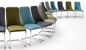 Chaise design simili cuir matelassé - Corine