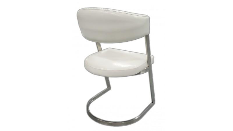 Chaise de salle manger blanche aron en cuir simili for Chaise simili cuir blanche