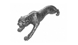 Statue design en polyrésine matte - Guepard
