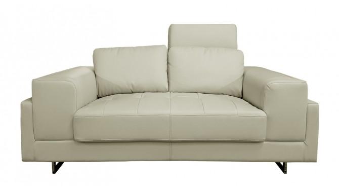 Canapé design 2 places avec appuie-têtes et en similicuir - Vlad