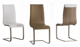Chaise design simili cuir et bois - Khosrov