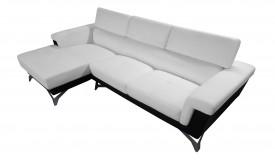 Canapé d'angle design en cuir simili - Zack