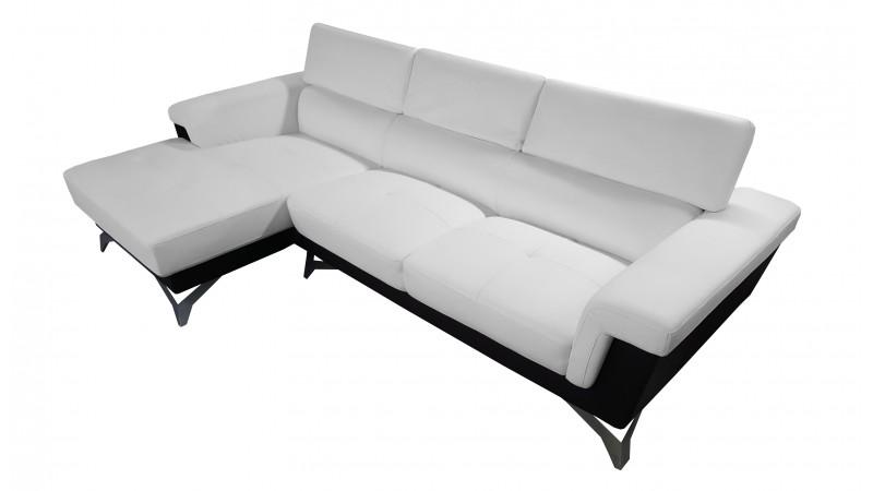 canap d 39 angle zack avec appuie t tes r glables et. Black Bedroom Furniture Sets. Home Design Ideas