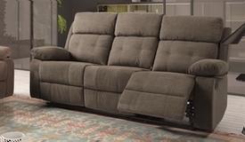 Canapé relax électrique en tissu 3 places - Norig