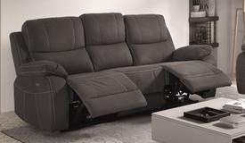 Canapé relax design de salon en tissu 3 places - Russell
