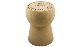 Pouf design en liège bouchon de champagne - Karl