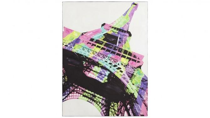 Peinture design multicolore Tour Eiffel - Paris