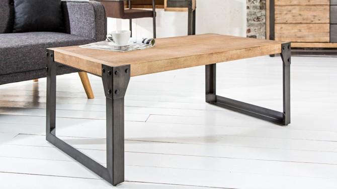 Table basse industrielle bois et métal - Jorg