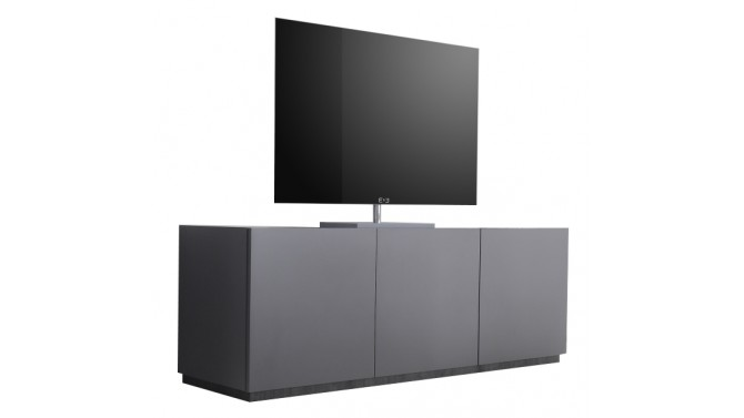 meuble tv design 3 portes gris mat avec bande weng e ivo gdegdesign. Black Bedroom Furniture Sets. Home Design Ideas