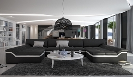 Canapé design panoramique en cuir - Dorog