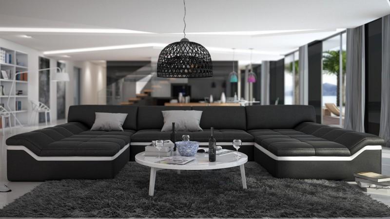 canap design panoramique en cuir dorog gdegdesign. Black Bedroom Furniture Sets. Home Design Ideas