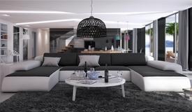 Canapé cuir de salon panoramique - Stolac