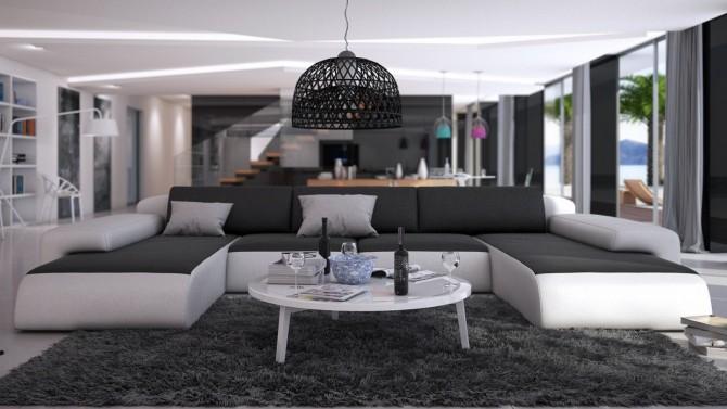 Canapé de salon panoramique en cuir - Stolac