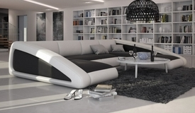 Canapé design en cuir panoramique - Olten