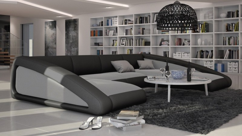 canap design de salon en cuir panoramique olten gdegdesign. Black Bedroom Furniture Sets. Home Design Ideas
