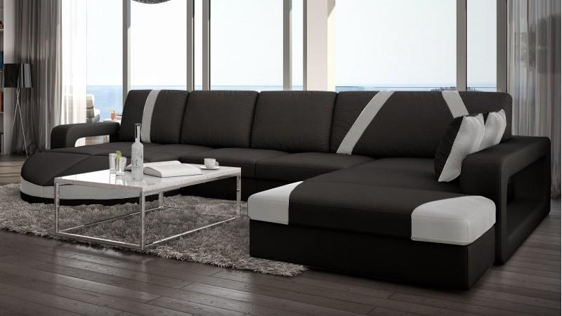 canap design panoramique d 39 angle en cuir utena gdegdesign. Black Bedroom Furniture Sets. Home Design Ideas