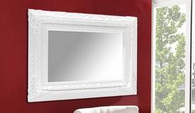 Miroir baroque blanc rectangulaire - Kavala