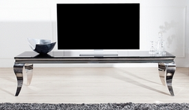 Banc TV baroque design noir 160 cm - Zita