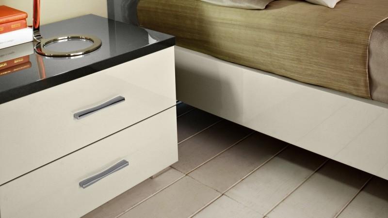 table de chevet design oban bicolore avec 2 tiroirs gdegdesign. Black Bedroom Furniture Sets. Home Design Ideas