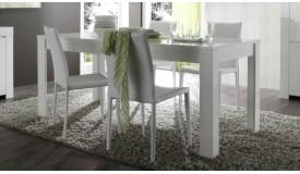 Table de salle à manger laquée blanche 160 cm - Naomi