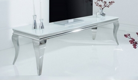 Meuble TV blanc baroque 160 cm - Zita