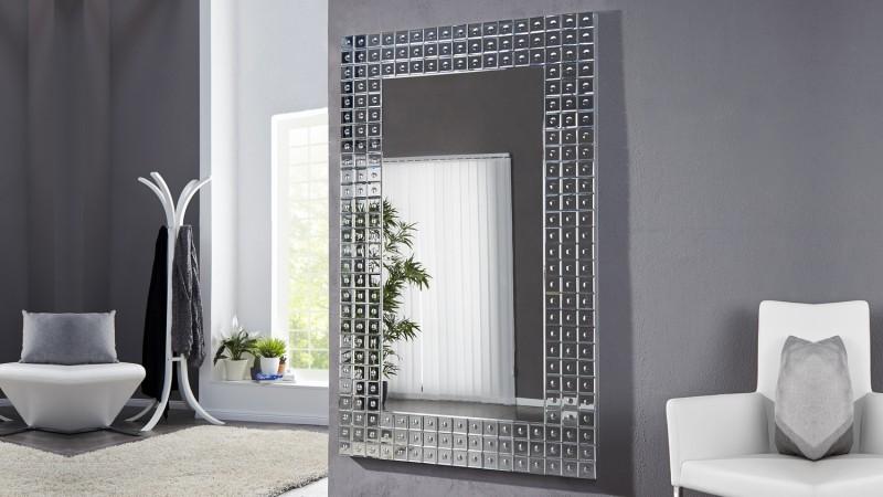 Grand miroir moderne design avec facettes 180 cm easton gdegdesign for Grand miroir moderne