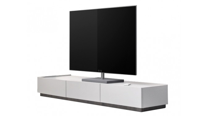 Meuble TV 3 tiroirs blanc mat - Ivo