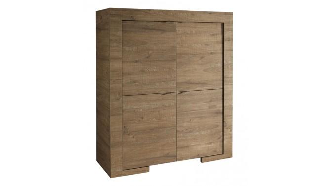 Bahut haut moderne 4 portes en bois - Karel