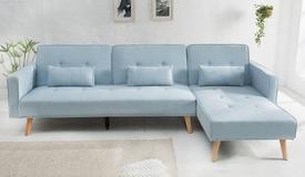 Canapé d'angle en tissu convertible - Narvik