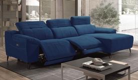 Canapé d'angle design relax en tissu - Faro