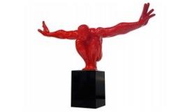 Statue décorative athlète avec socle en granit - Hudson