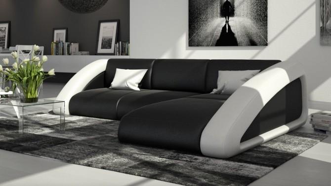 Canape Angle Simili Cuir.Canape D Angle Design En Cuir Simili Cuir Hays Gdegdesign