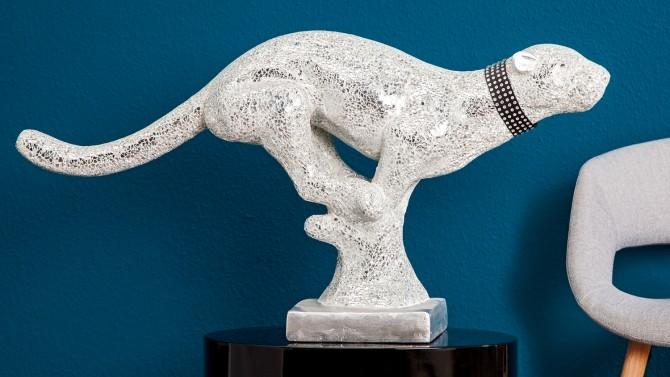 Statue panthère blanche moderne - Lagos