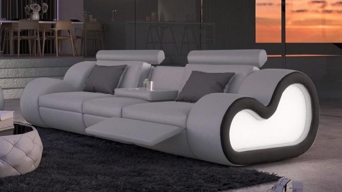 Canapé 3 places design avec éclairage - Atco