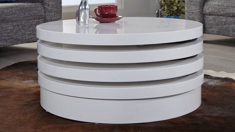 Table Basse Blanche Ronde 3 Plateaux Modulables Urb Gdegdesign