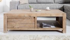 Table de salon en bois avec tiroirs - Osvald