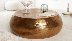 Table de salon ronde style oriental - Azaria