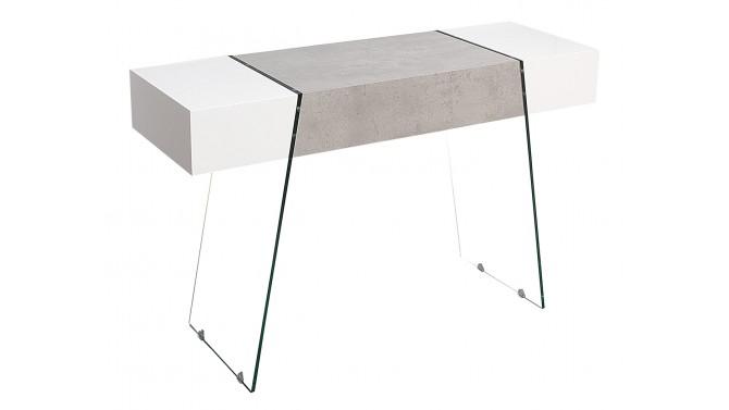 Console blanc et béton moderne avec tiroir - Solna