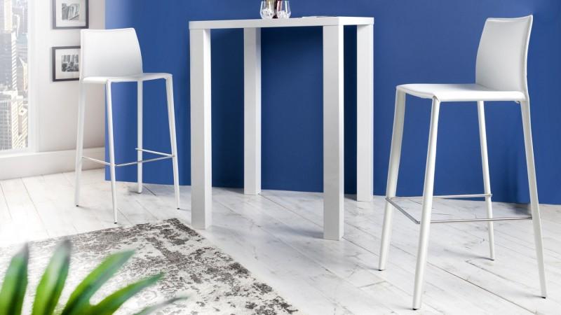 tabouret de bar design fixe en cuir v ritable paulo gdegdesign. Black Bedroom Furniture Sets. Home Design Ideas