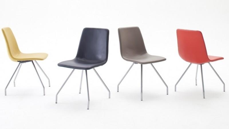 Chaise Design Simili Cuir De Couleur