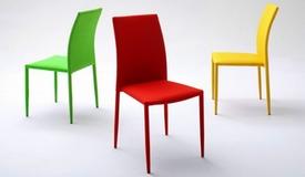 Chaise design en tissu de couleur - Victoria