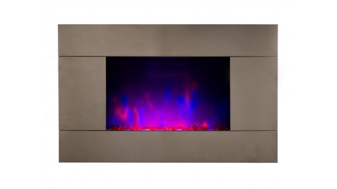 Cheminée lumineuse électrique inox - Pure