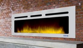 Grande cheminée design avec LED - Brite Inox