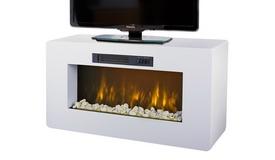 Meuble cheminée électrique blanc - Meribel