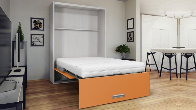 lit vertical escamotable moderne avec poign e clifford. Black Bedroom Furniture Sets. Home Design Ideas