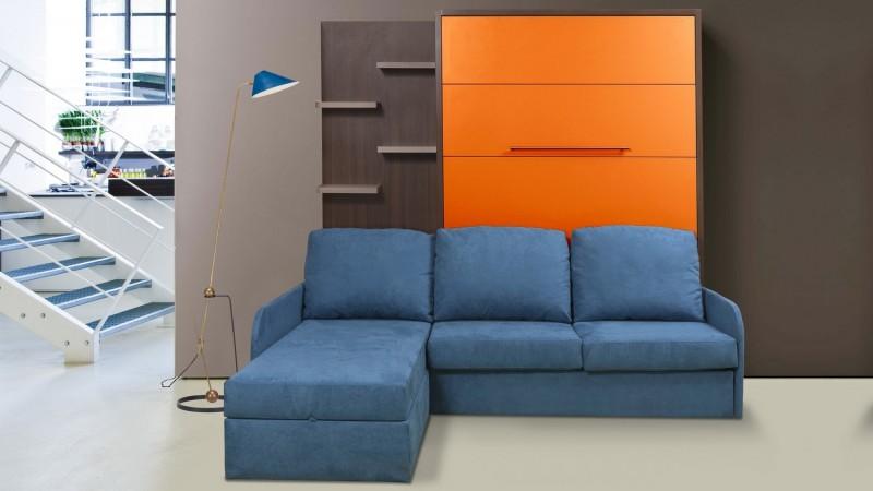 lit escamotable canap d 39 angle m ridienne tricolore joss gdegdesign. Black Bedroom Furniture Sets. Home Design Ideas