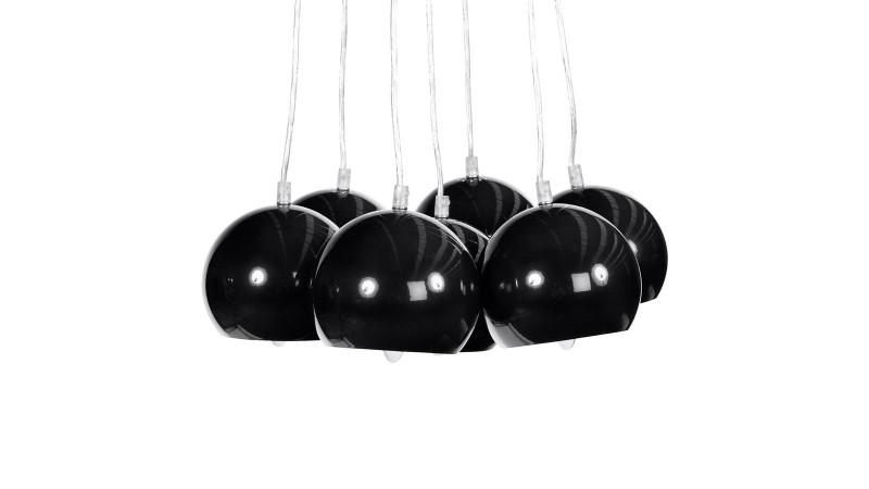 Lustre de salle manger bilbao 7 suspensions en m tal gdegdesign - Lustre suspension moderne ...