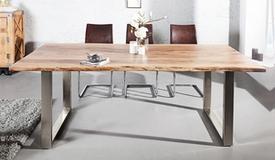 Table à manger moderne en bois - Lawson