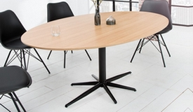 Table de repas moderne ovale en bois - Rhys