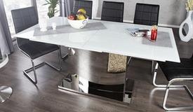 Table à manger extensible design en verre - Gwalior